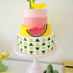 тропический торт с арбузом