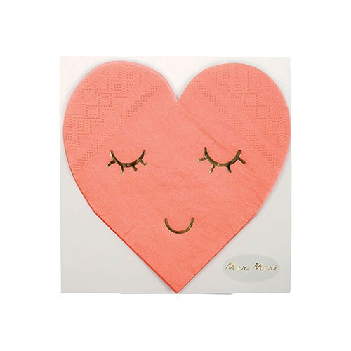 Салфетки в форме сердца Meri Meri