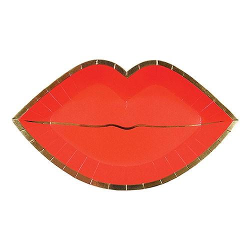 Тарелки в форме губ Meri Meri