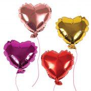 Шарики сердечки фольгированные
