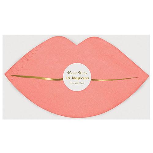 Салфетки в форме губ Meri Meri