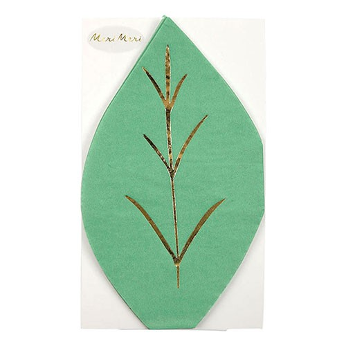 Салфетки в форме листка Meri Meri