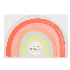 Салфетки «Rainbow» 20 шт. от Meri Meri