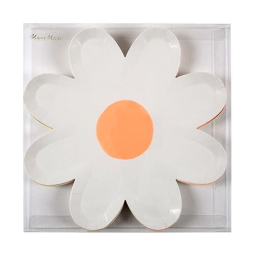 Тарелки пастельные «Ромашки» 8 шт от Meri Meri
