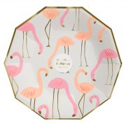 Тарелки «Розовый фламинго» 8 шт. от Meri Meri