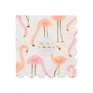 Салфетки маленькие «Розовый фламинго» 16 шт. от Meri Meri