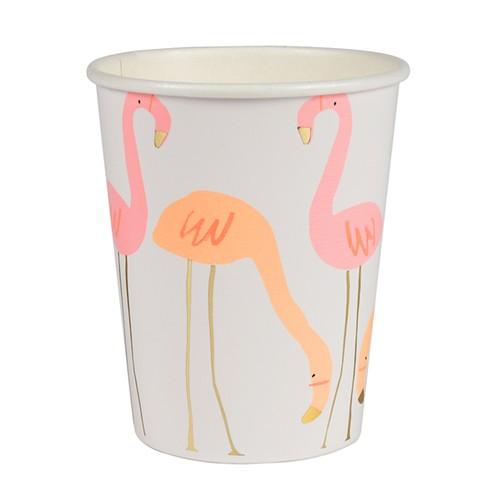Стаканы «Розовый фламинго» 8 шт. от Meri Meri