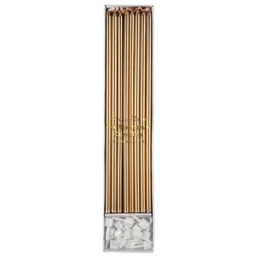 Свечи длинные «Золото» 16 шт от Meri Meri