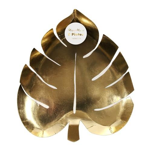 Тарелки в форме пальмового листа «Золото» 8шт. от Meri Meri
