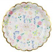 Тарелки большие «Акварель» 8 шт от Meri Meri