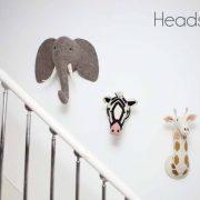 Декоративные головы Слона, Зебры, Жирафа