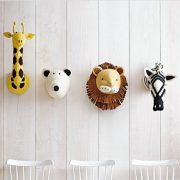 Декоративные головы Жирафа, Белого Медведя, Льва, Зебры