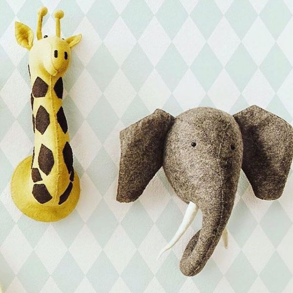 Декоративные головы Жирафа и Слона
