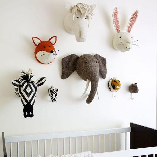 Декоративные головы Зебры, Лисы, Лошади, Кролика, Тигра, Бегемота