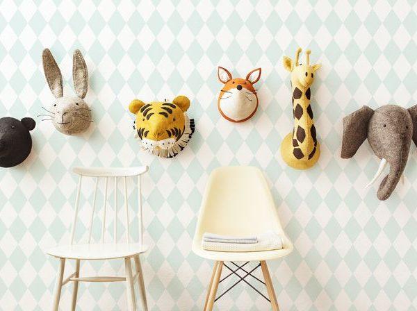 Декоративные головы Медведя, Зайца, Тигра, Лисы, Жирафа, Слона