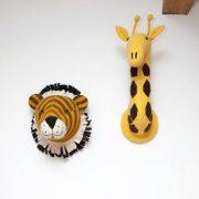 Декоративные головы Тигра и Жирафа