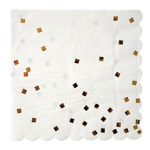 """Салфетки большие """"Золотое конфетти"""" 16 шт от Meri Meri"""